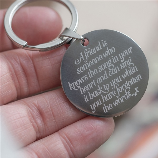 Personalised 'A Friend Is Someone' Keyring