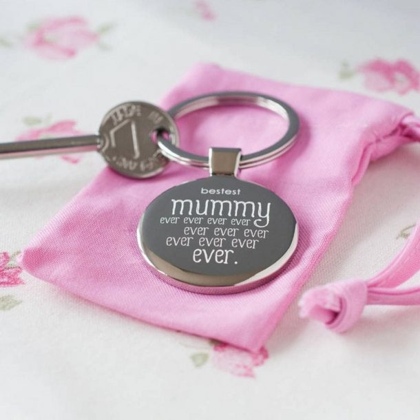 Personalised Bestest Mummy Ever Keyring