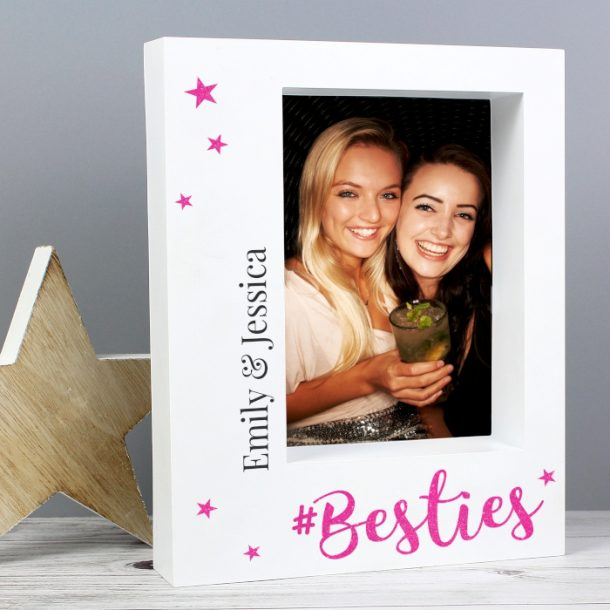 Personalised Besties 5x7 Box Photo Frame