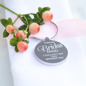 Personalised Bridesmaid Wedding Keyring
