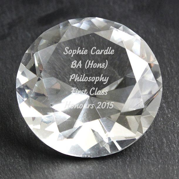 Personalised Diamond Paperweight
