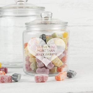 Personalised Large Heart Sweet Jar