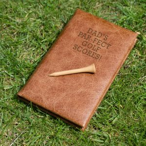 Personalised Leather Golf Score Book