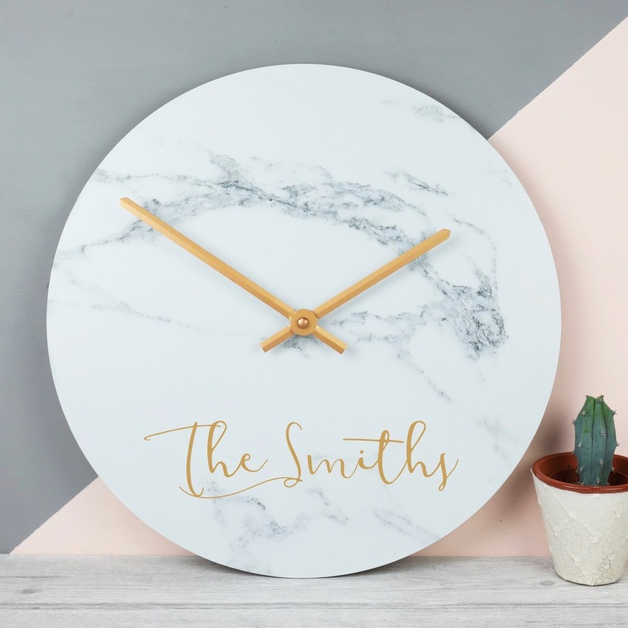Personalised Marble Wall Clock | Love My Gifts