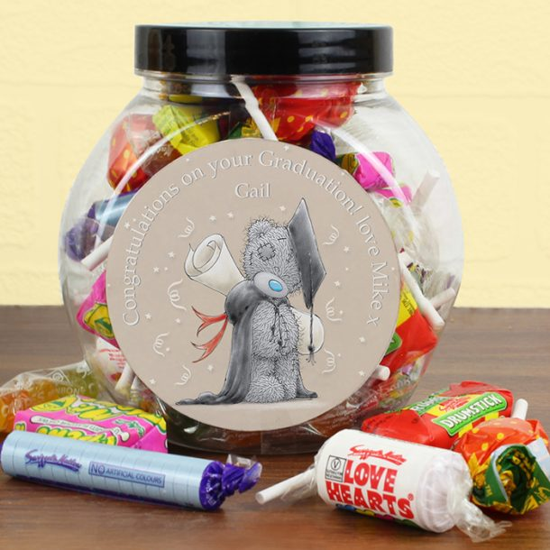 Personalised Me to You Graduation Sweets Jar