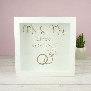 Personalised 'Mr & Mrs' Memories Box Frame