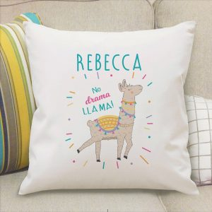 Personalised No Drama Llama Cushion