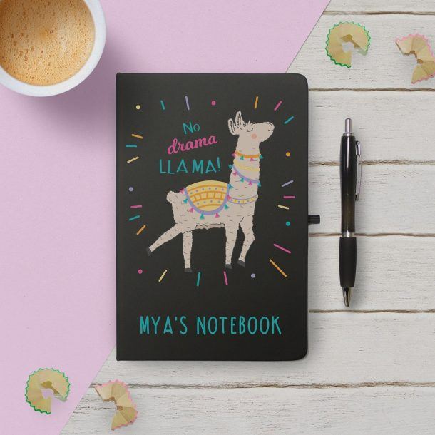 Personalised No Drama Llama Notebook & Pen Set