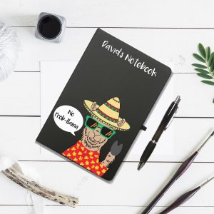 Personalised No Prob-Llama Notebook & Pen Set