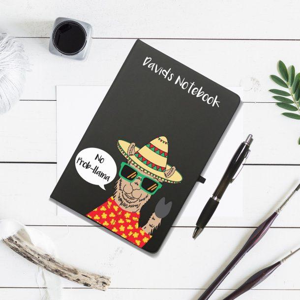 Personalised No Prob-Llama Notebook & Pen Set
