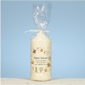 Personalised Nursery Scene Pillar Candle