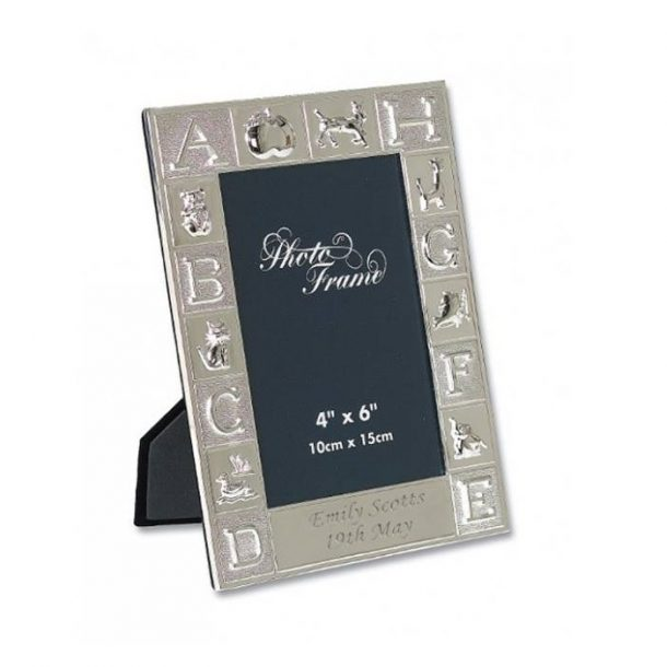 Personalised Silver Plated ABC Photo Frame