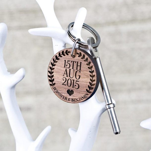 Personalised Special Date Couples Keyring