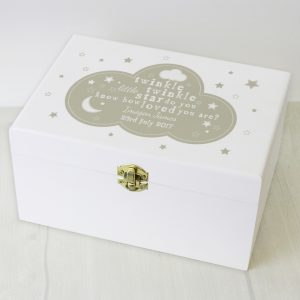 Personalised Twinkle Twinkle Wooden Keepsake Box