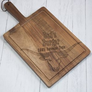 Personalised Wooden Burger Board