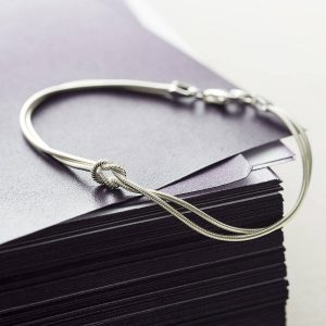 Tying The Knot Silver Bracelet