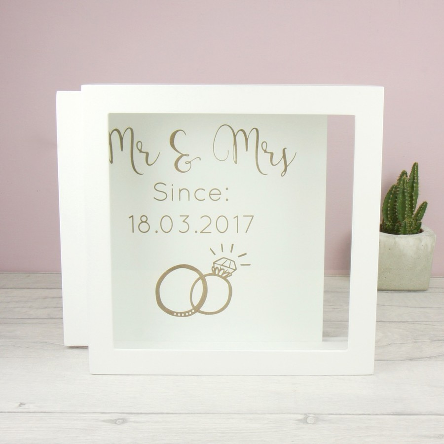 Personalised \'Mr & Mrs\' Memories Box Frame   Love My Gifts