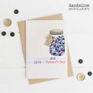 Jam Packed With Love Father's Day Card