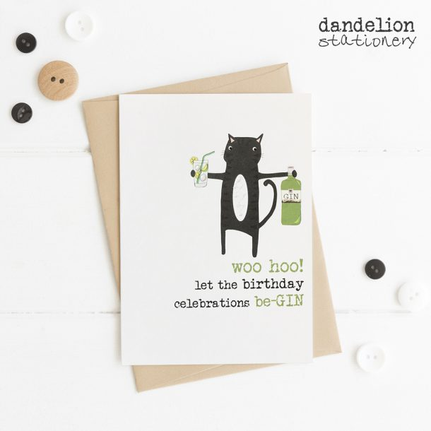 Luxury Birthday Be-Gin Cards