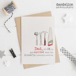 Luxury Hand Finished Card For Dad