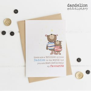 Luxury Hand Finished Favourite Daddy Cards