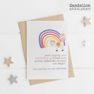 Luxury Unicorn Birthday Cards