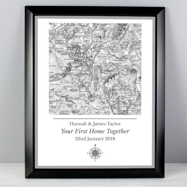 Personalised 1805 - 1874 Series Map Framed Poster Print