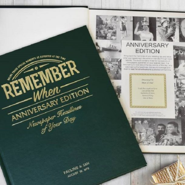 Personalised Anniversary Edition Newspaper Book