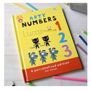 Personalised Arty Mouse Numbers Activity Hardback Book
