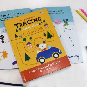 Personalised Arty Mouse Tracing Activity Hardback Book