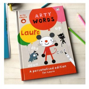 Personalised Arty Mouse Words Activity Hardback Book