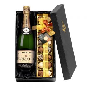 Personalised Authentic Star Champagne & Chocolates Gift Set