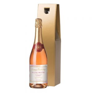 Personalised Birthday Sparkling Rosé Wine & Gift Box