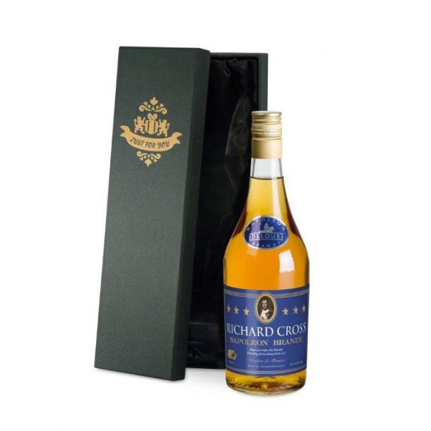 Personalised Brandy & Silk Lined Gift Box
