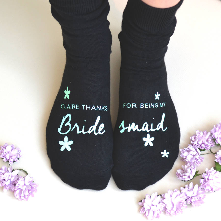Personalised Bridesmaid Thank You Socks Love My Gifts