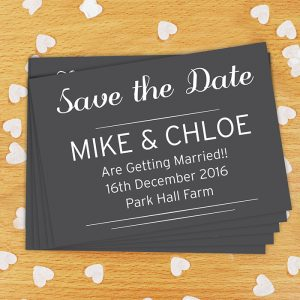 Personalised Classic Save The Date Postcards Pack of 24