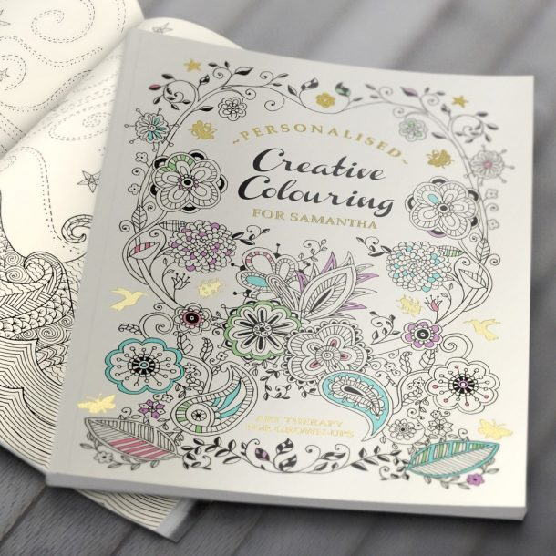 Personalised Creative Colouring - Softback Book