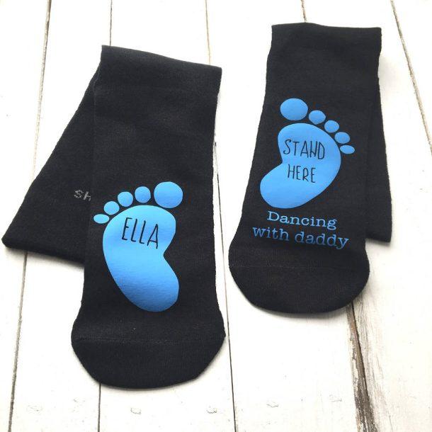 Personalised Dancing On Daddy's Feet Socks