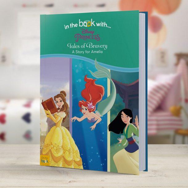Personalised Disney Princesses Tales of Bravery - Hardback Book