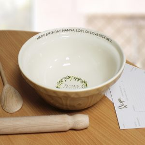 Personalised Floral Mixing Bowl