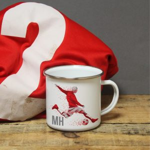Personalised Footballer Enamel Mug
