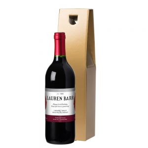 Personalised French VdP Flowers Red Wine & Gift Box