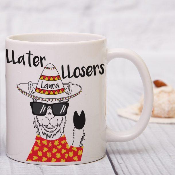Personalised Llater Llosers Mug