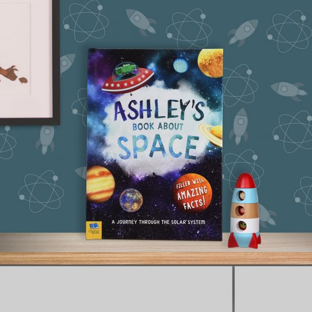Personalised My Book About Space - Hardback Book