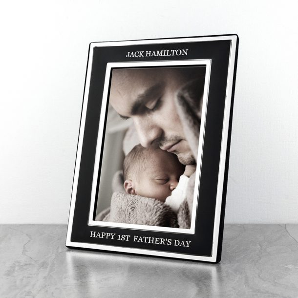 Personalised Silver Plated Father's Day Frame