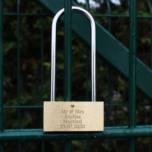 Personalised Single Love Heart Padlock