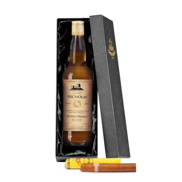 Personalised Single Malt Whisky & Montecristo Cigar Giftset