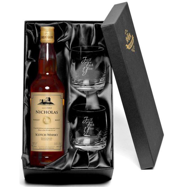 Personalised Single Malt Whisky & Tumbler Gift Set