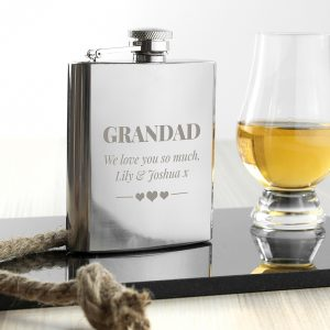 Personalised Stainless Steel 6oz Hip Flask