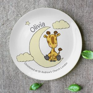 Personalised Sweet Dreams Giraffe Plate